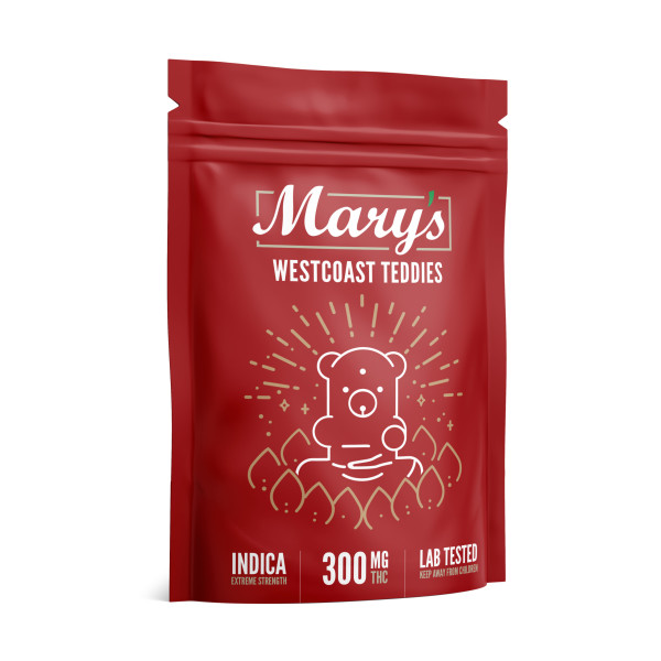 Wellness Lifestyle Mary's West Coast Teddies 300mg
